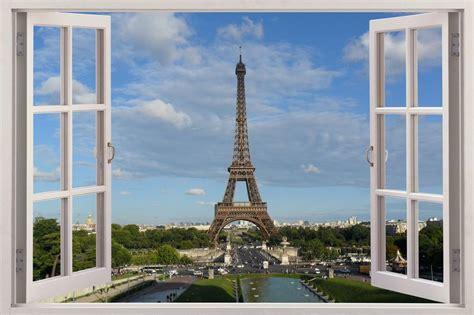 3D window Huge Wall Sticker Mural wallpaper decor Paris