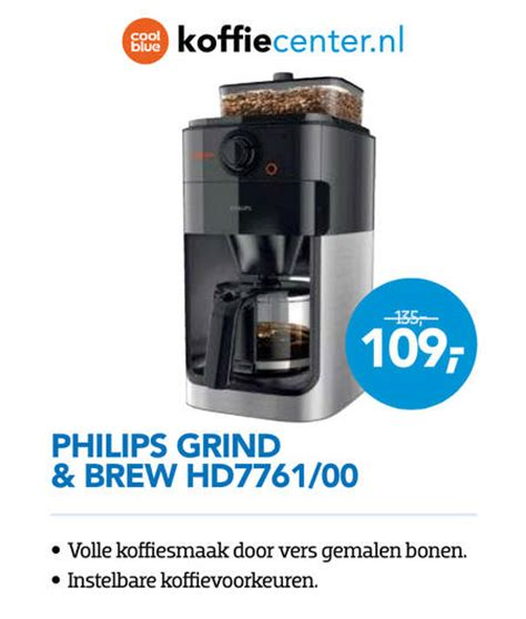 Philips Koffiezetapparaat Grind Brew Hd7761 00 Review by Philips Koffiezetapparaat Folder Aanbieding Bij Coolblue