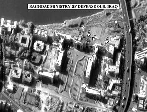 Bomb damage assessment photo of the Baghdad Ministry of ...