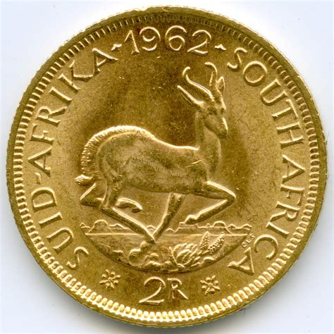afrique du sud 2 rand springbok 1962