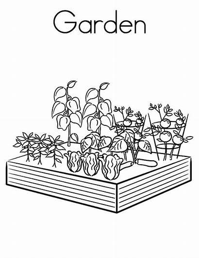 Coloring Garden Printable Gardening Vegetable Fairy Treasure