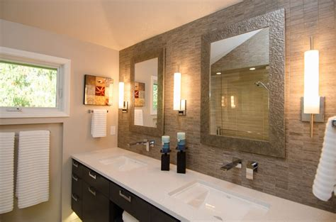 Ideas For Kitchen Remodel - pangaea interior design contemporary master bathroom with vaulted ceiling