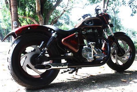 Modified Enfield Bikes In Delhi by Skull Impressive Budget Custom By Xlnc Guys Delhi