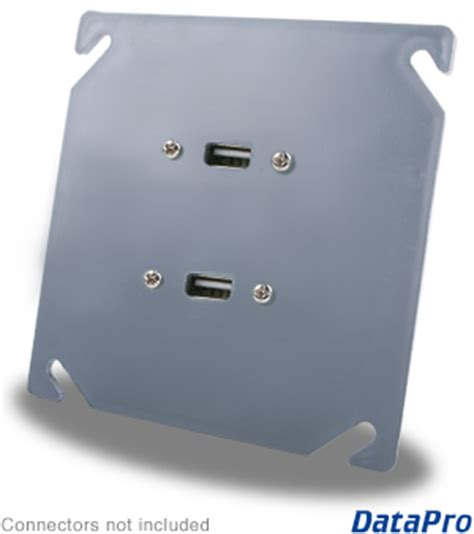 dual usb industrial wall plate datapro