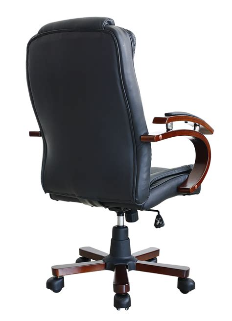 luxury swivel executive wooden computer office chair in