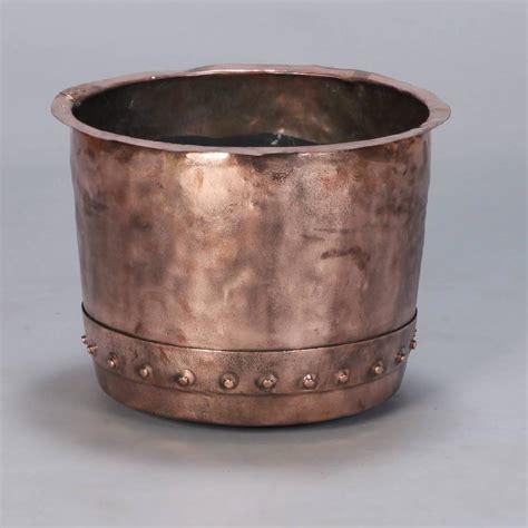century large hammered copper pot  stdibs