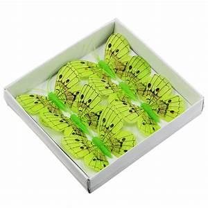 Deko Schmetterlinge Groß : deko schmetterlinge gr n 8cm 6st gro handel und lagerverkauf ~ Yasmunasinghe.com Haus und Dekorationen