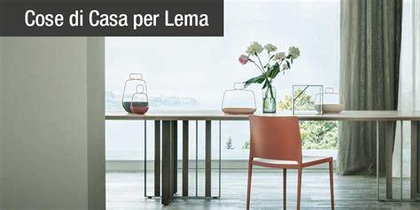 design  la zona pranzo  tavoli lema rettangolari