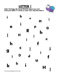 alphabet letter search preschool letter  worksheets