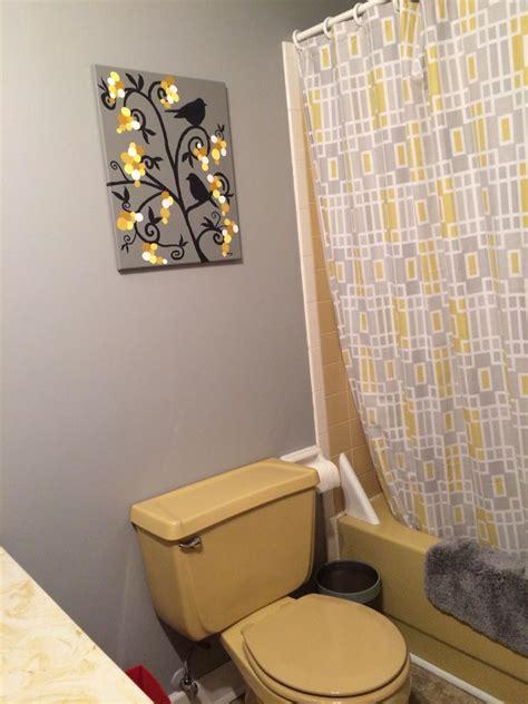work  progress harvest gold bathroom yellow
