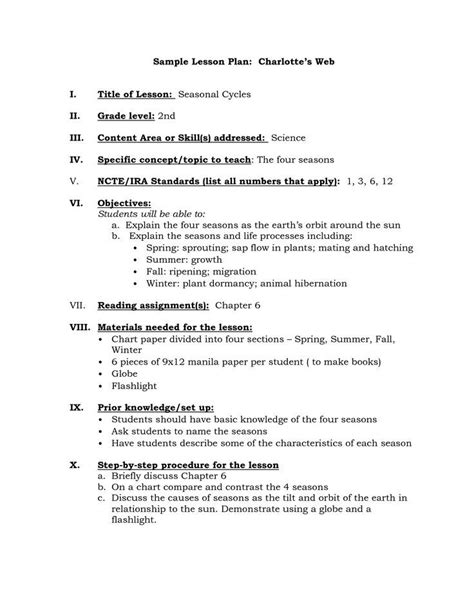 Danielson Lesson Plan Template Doc by Danielson Lesson Plan Template Templates