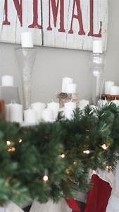 Home Christmas Mantel Decor Positively Oakes