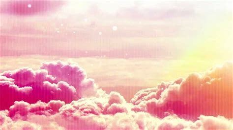 The sky has turned pink Clouds Background Visual