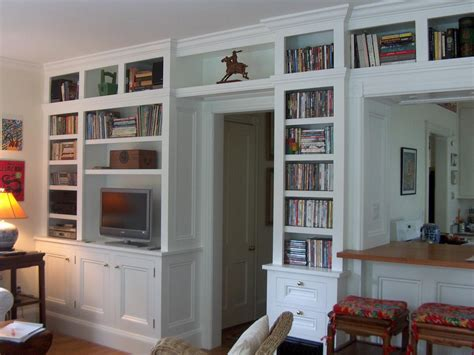 Built In Bookshelves by Built In Bookcase With Cabinets View Larger Higher