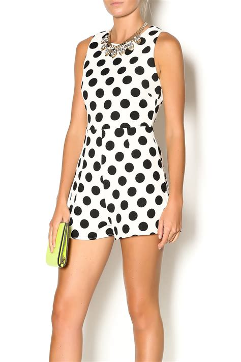 Depri Polka Dot Romper from Florida by MISRED Outfitters u2014 Shoptiques
