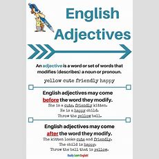 Adjectives Lesson Plans  Teaching And Learning English (vocabulary, Grammar, Stories