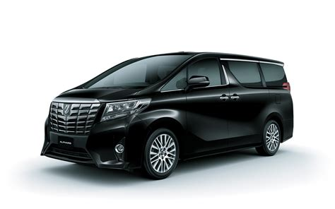 toyota alphard hybrid mpv black color side view hd