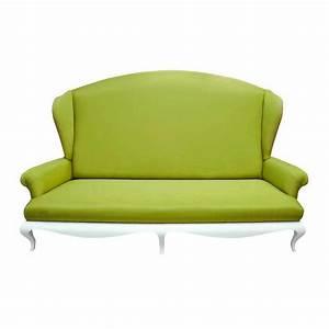 canape de luxe 2 places tissu vert avec accoudoirs eiffel With tapis de gym avec canapé design luxe italien