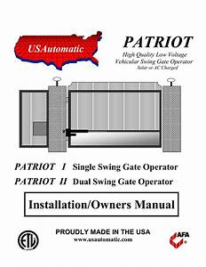 Usautomatic Patriot Ii Troubleshooting Guide