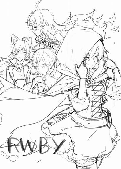 Rwby Drawing Anime Character Sketch Drawings Poses