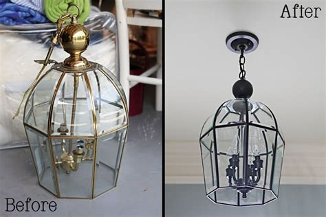 spray painting light fixtures i give this ten a ten foyer lighting foyers and painted