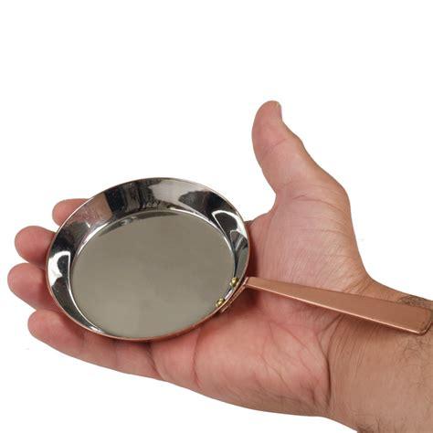 mini fry pan  diameter copper finish