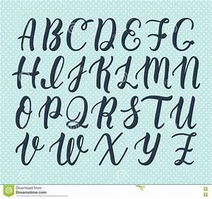 Hand Drawn Latin Calligraphy Brush Script Of Capital ...
