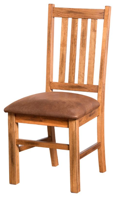 sedona 4 slat dining chair with cushion rustic dining