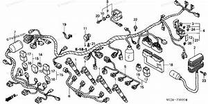 Honda Motorcycle 2000 Oem Parts Diagram For Wire Harness