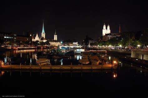 wallpaper zurich switzerland city night