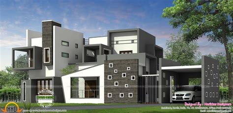 Luxurious Contemporary Home by Luxurious Contemporary Style House Plan Kerala Home