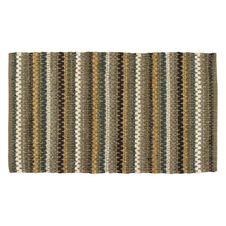 Rag Rugs Walmart by Colorful Gray Brown Cotton Area Rag Rug Mineral Stripe By