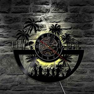 Lighting Stores Myrtle Beach 1piece Led Wall Art City Of Myrtle Beach Clock Glow In