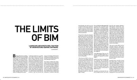 The Limits Of Bim  Landscape Architecture Magazine