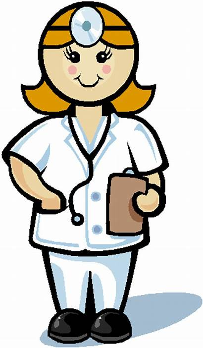 Nurse Medical Cartoon Doctor Animated Clipart Gambar
