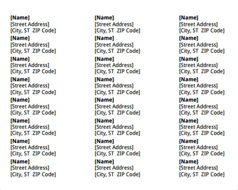 microsoft word address label template 25 microsoft word templates sle templates