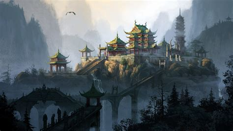 Asian Anime Wallpaper - anime asian architecture wallpapers hd desktop and