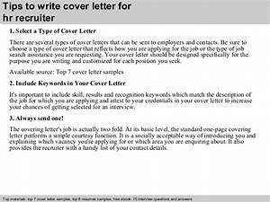 hr recruiter cover letter With how to write a cover letter to a recruiter