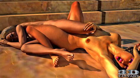 3d Egyptian Lesbian Hotties Having Sex In The Temple Xxx