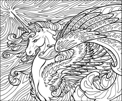 printable unicorn coloring pages  adults pl