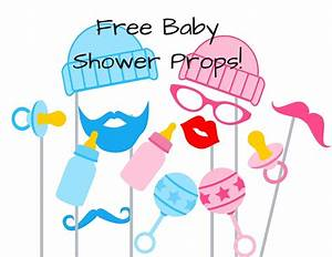 free-baby-shower-photo-booth-props - Baby Shower Ideas