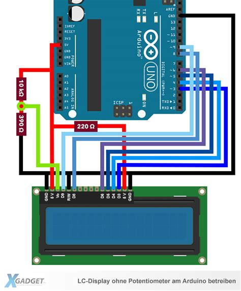arduino lcd ohne potentiometer anschliessen xgadgetde