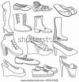 Coloring Loafers Shoes Template Pages sketch template