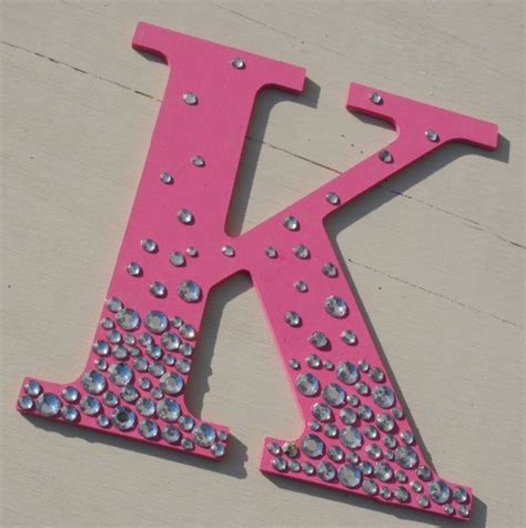 hot pink bling sparkle wall letters letter  craft stores  letter
