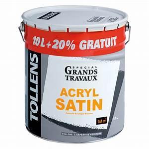Peinture Bois Exterieur Tollens : peinture acrylique satin 10l 20 tollens peinture ~ Dailycaller-alerts.com Idées de Décoration