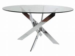 Table Ronde 140 Cm : table ronde 140 cm ruth coloris argent chez conforama ~ Teatrodelosmanantiales.com Idées de Décoration