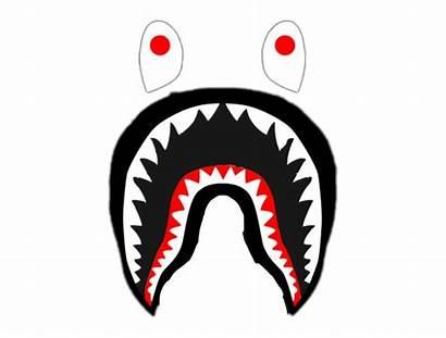 Bape Shark Supreme Clipart Transparent Teeth Hypebeast