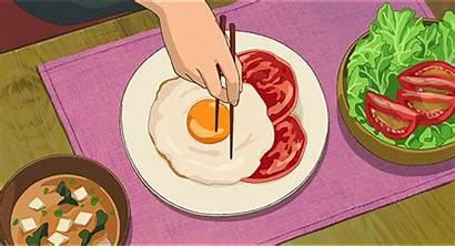 Anime Breakfast Studio Ghibli Egg Eggs Animated