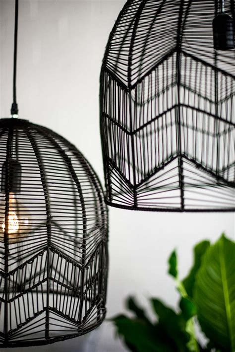 lace rattan pendant black gunni home lighting