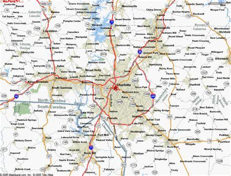 map  charlotte north carolina travelsmapscom